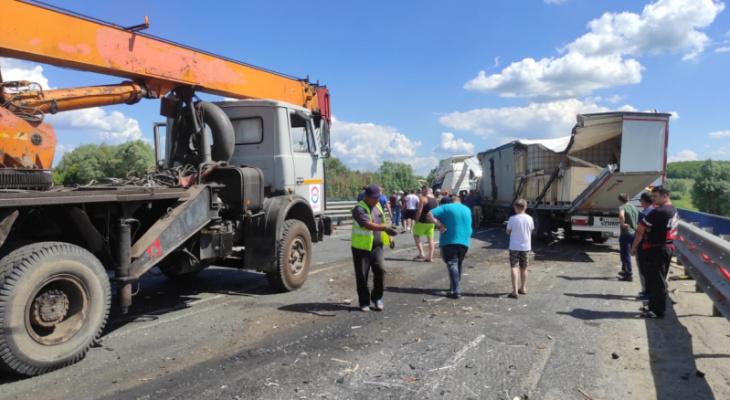 Мужчина погиб в ДТП при столкновении двух грузовиков, есть пострадавшие