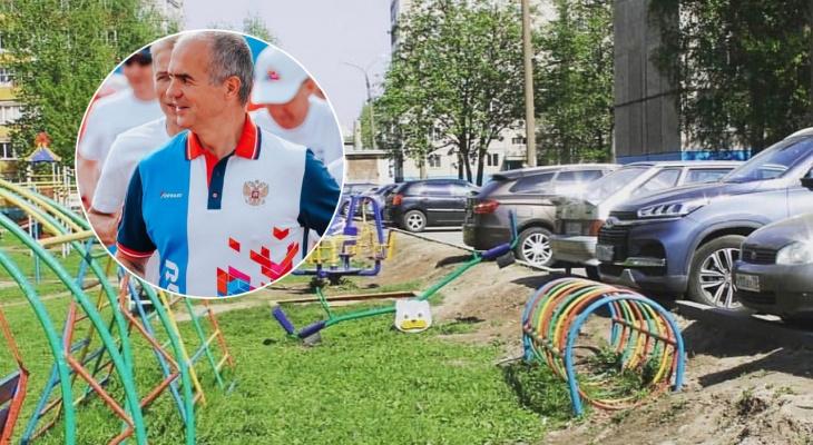 Ладыкову досталось от прокуратуры из-за странной и опасной детской площадки