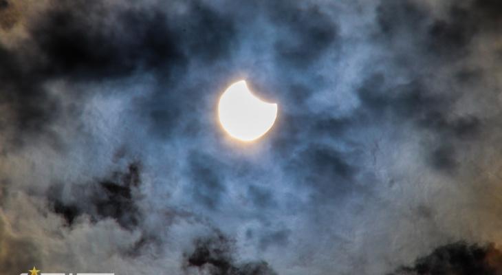 В Чувашии наблюдали частное солнечное затмение