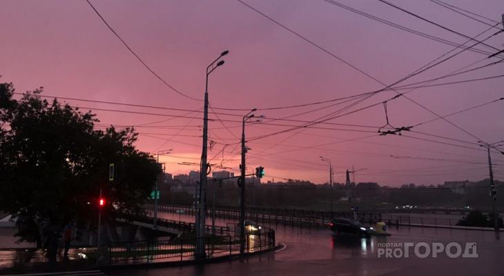 Воскресенье в Чувашии может выдаться дождливым, местами гроза