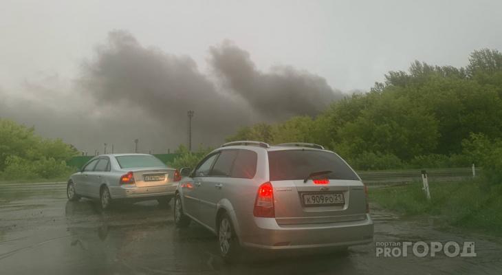 Крупный пожар случился в Новочебоксарске: «Появился запах хлора»