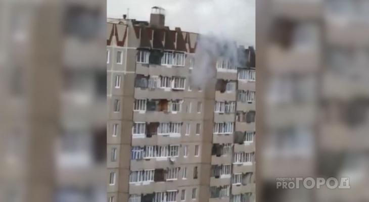 Горожане: «Молния ударила в квартиру на 8 этаже»