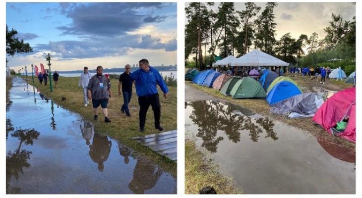 Из-за грозового ливня пришлось эвакуировать 150 участников «МолГорода»