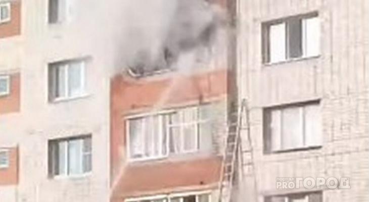 Во время пожара в Новоюжном районе пострадали два человека