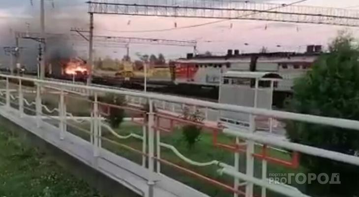 В Вурнарах пронесся горящий железнодорожный состав