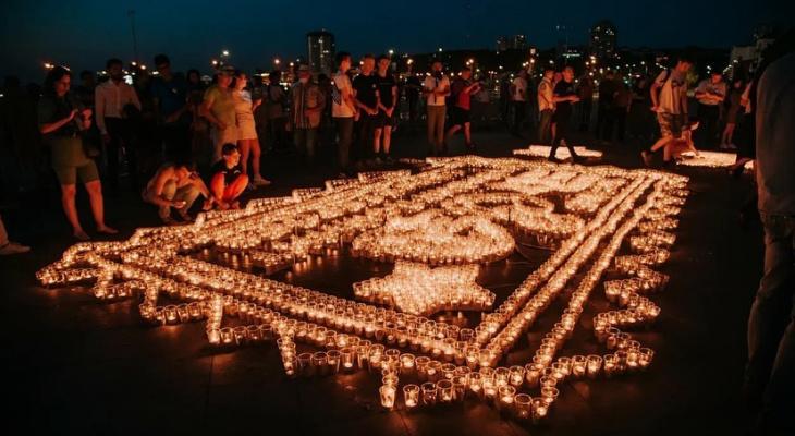 В Чебоксарах зажгли десять тысяч свечей в память о погибших в Великой Отечественной войне