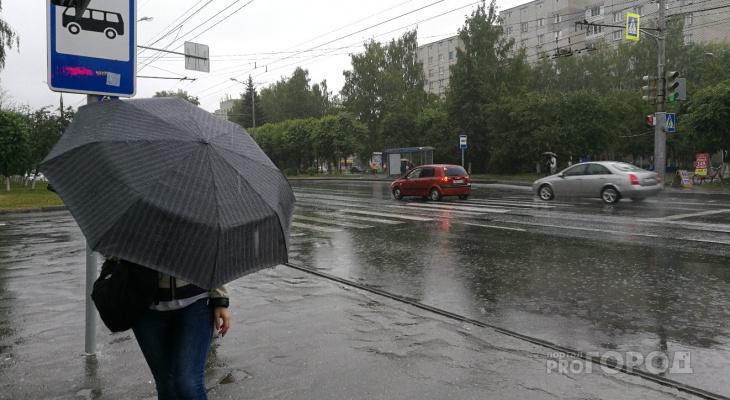 На Чувашию надвигаются похолодание, проливные дожди и сильный ветер