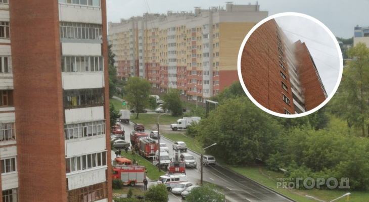 В Чебоксарах после грозы загорелись все электрические щитки 14-этажного дома