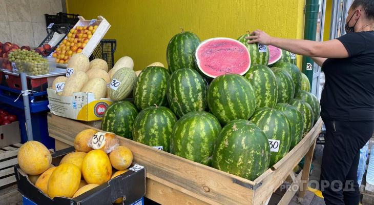 На каком рынке Чебоксар самые дешевые арбузы и дыни