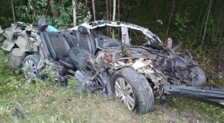 В Шумерлинском районе иномарка влетела под грузовик: водитель погиб