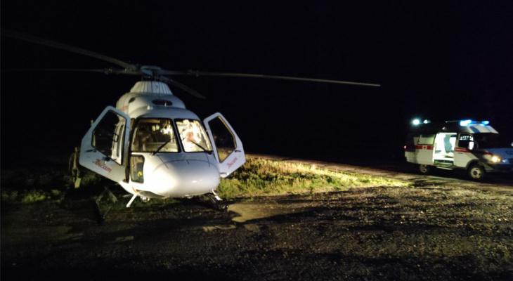 Пациента экстренно эвакуировали на вертолете из Шемурши в Чебоксары за полчаса