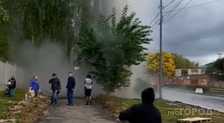 Стали известны причины крупной коммунальной аварии в Чебоксарах: из-под земли вырвался столб воды