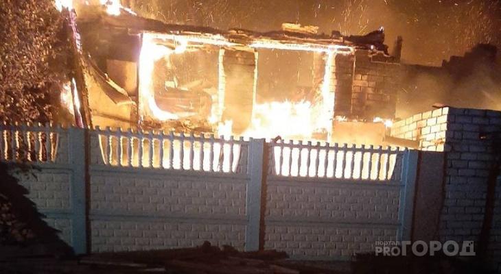 В Мариинском Посаде во время пожара погиб человек