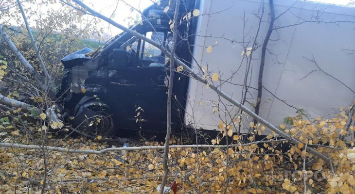 В Чебоксарском районе ГАЗель вылетела с дороги в кювет