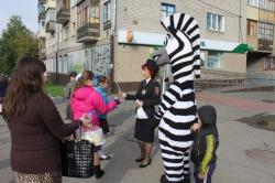 Первого сентября маленьким пешеходам в Чебоксарах помогала «Зебра»
